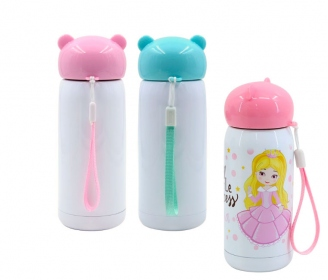 Stainless steel bottle with bear cap