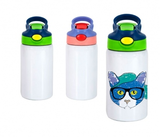Stainless steel bottle for kids with lid