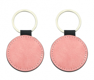 Pastel Pink leatherette keychains (various shapes)