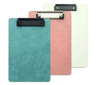 Leatherette clipboard with clip