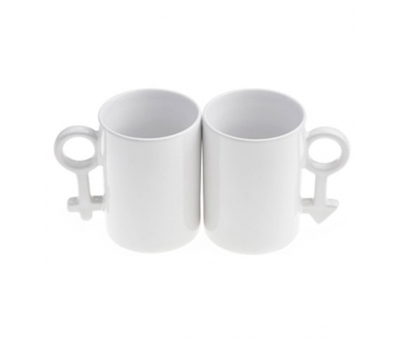 Customizable ceramic mugs for couples (Pack 2)