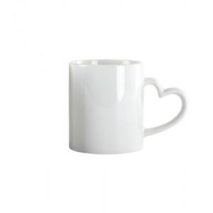 Tazas de cerámica con asa corazón