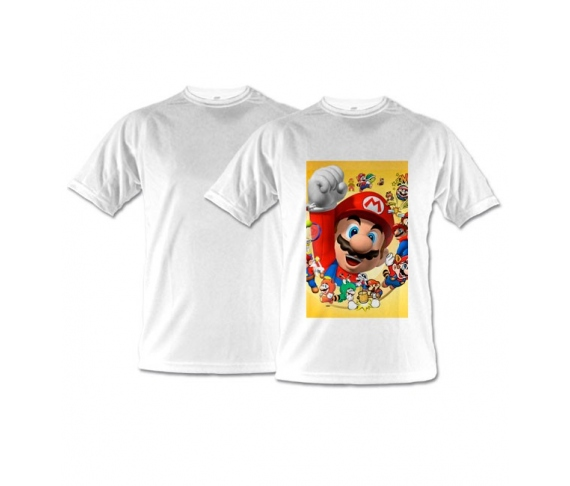 White technical T-shirts for adults