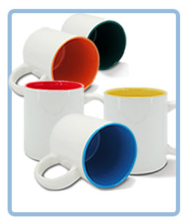 ceramic mug with inside colored